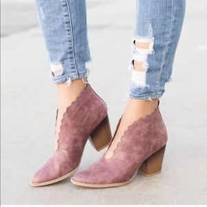 Scalloped front bootie